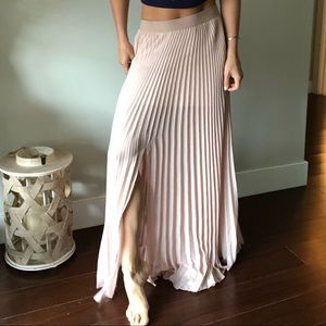 BCBG pleated long skirt